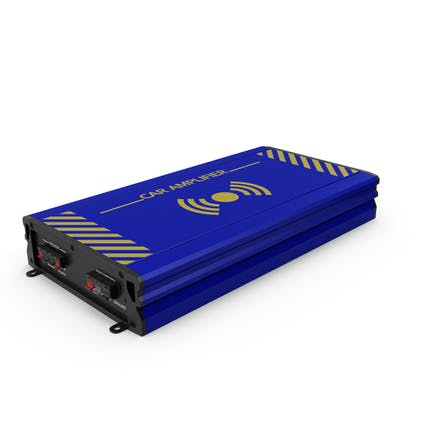Car Amplifier Blue