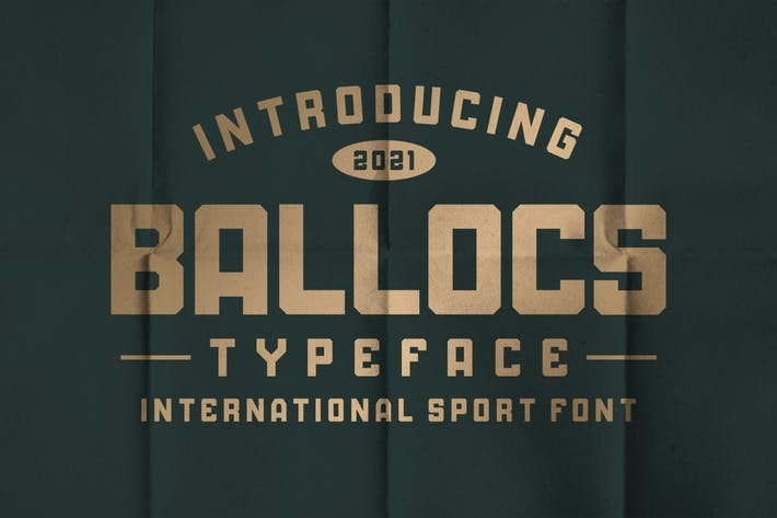 BALLOCS SPORT TYPEFACE