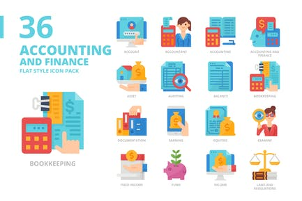 Accounting and Finance Flat Style