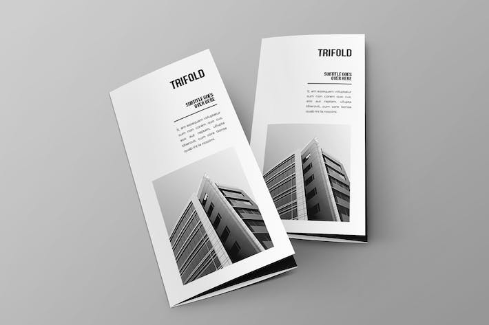 Cover Image For Minimal Black & White Architecture Trifold