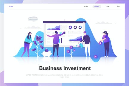 Business Investment Flat Concept