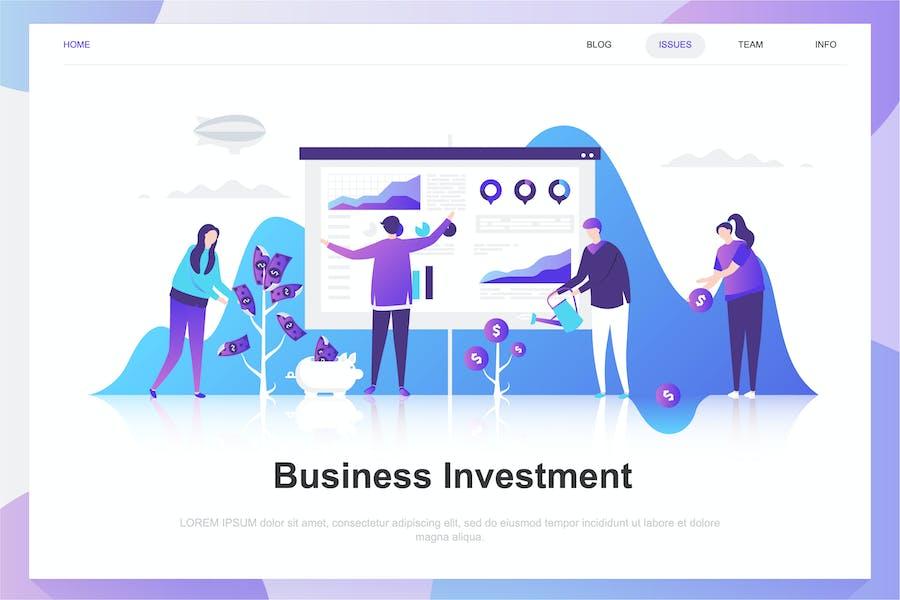 Concept d'appartement d'investissement d'entreprise