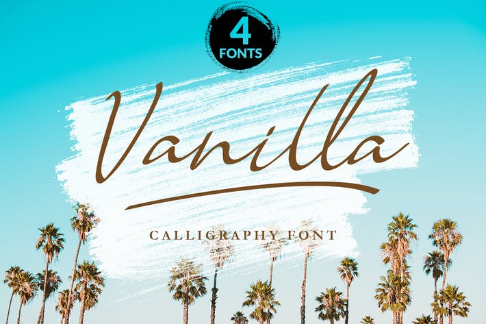 Thumbnail for Vanille - Police de calligraphie moderne