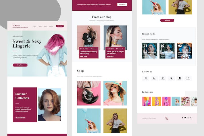 Thumbnail for Myha - Hair Store Shop Email Newsletter