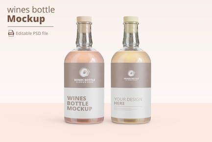 wines bottle mockup