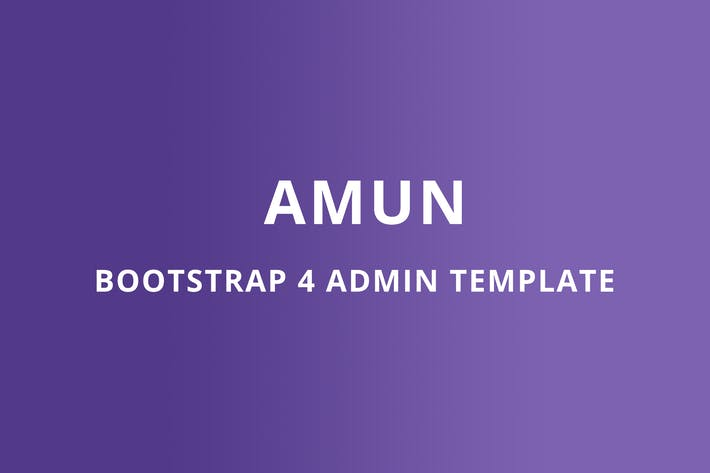 Thumbnail for Bootstrap 4 Admin Template - Amun
