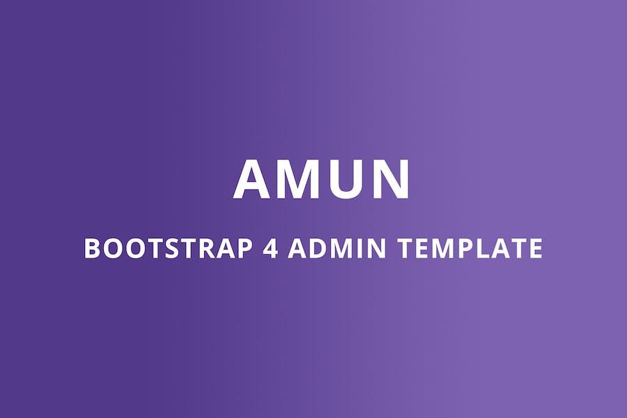 Bootstrap 4 Admin Template - Amun