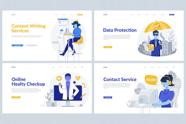 Thumbnail for Online Service Theme - Landing Pages