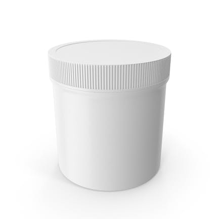 White Plastic Jar Wide Mouth Straight Sided 6oz Closed