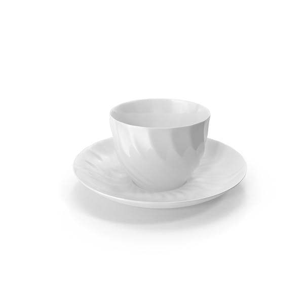 White Teacup and Saucer