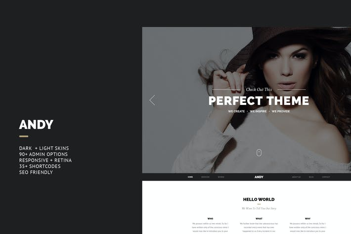 Cover Image For Andy - Elegant Creative Joomla Template