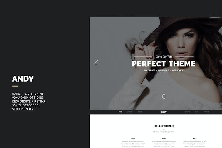 Thumbnail for Andy - Elegant Creative Joomla Template