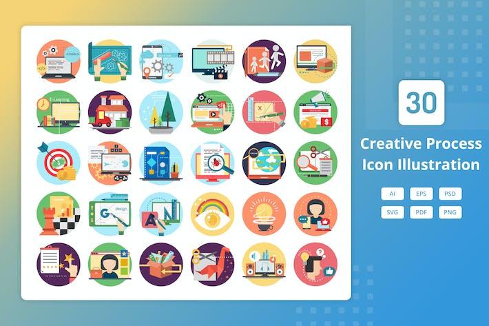 Thumbnail for Creative Process - Icon Illustration