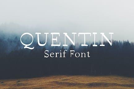 Quentin Handmade Serif Font