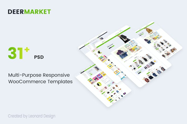 Cover Image For DeerMarket | Multi-Purpose Responsive Ecommerce PS