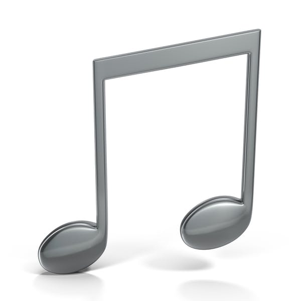 Beamed Music Note Silver