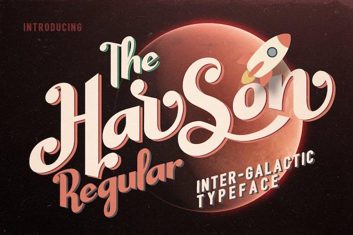 Harson Regular - Tipo de letra intergaláctica