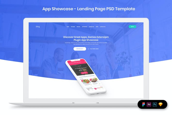 Thumbnail for App Showcase - Landing Page Template