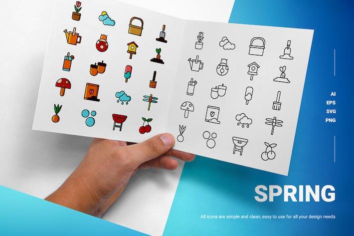 Frühling - Icons