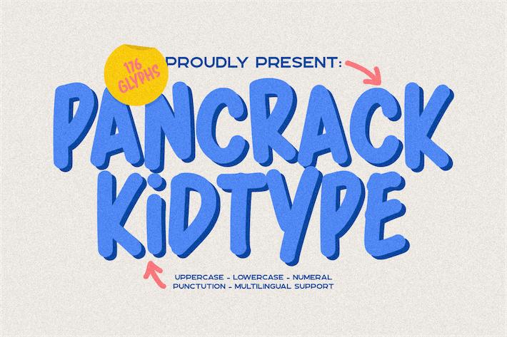 Pancrack escrito a mano juguetón
