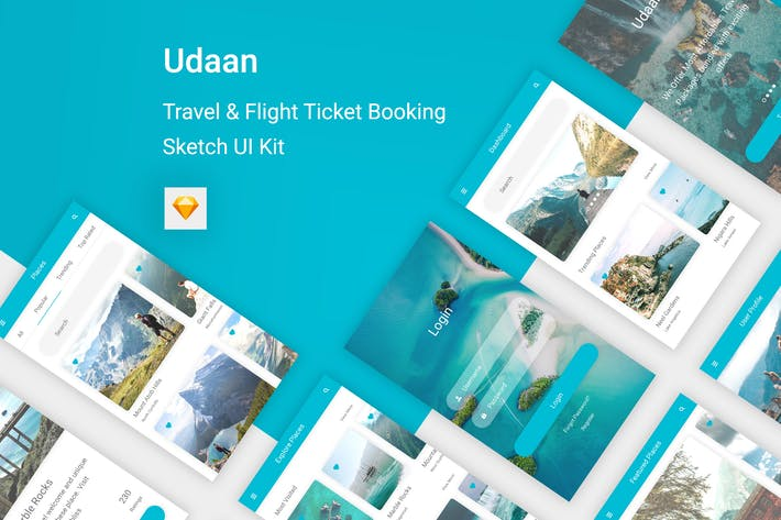 Thumbnail for Udaan - Travel & Flight Booking App for Sketch