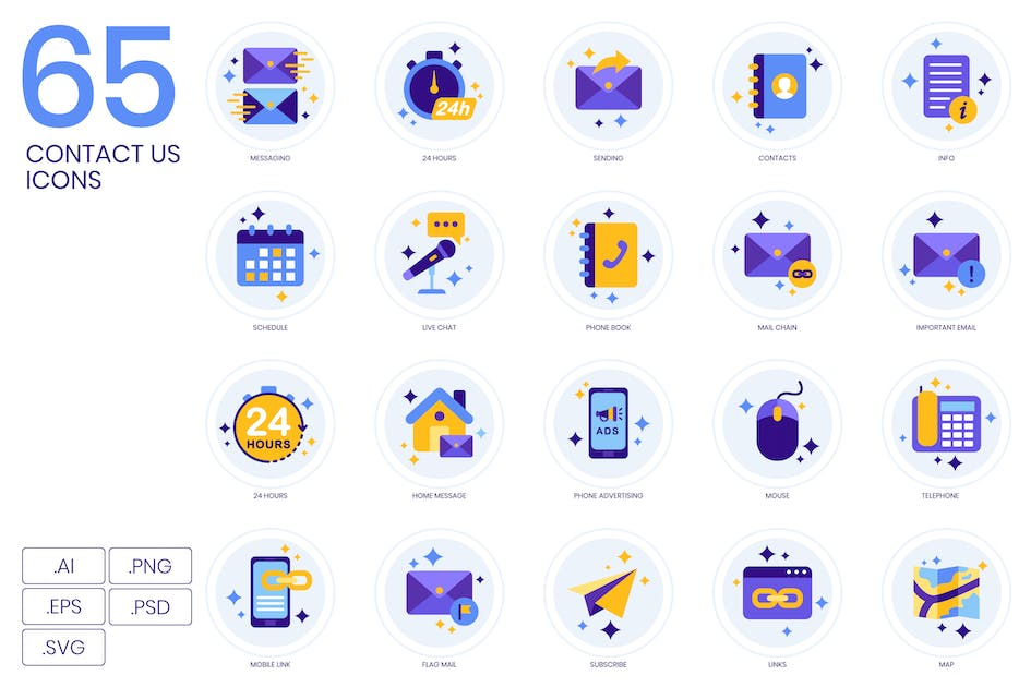 Download 65 Contact Us Icons   Lavender Series by Krafted