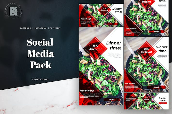 Thumbnail for Instagram Facebook Pinterest Food Pack