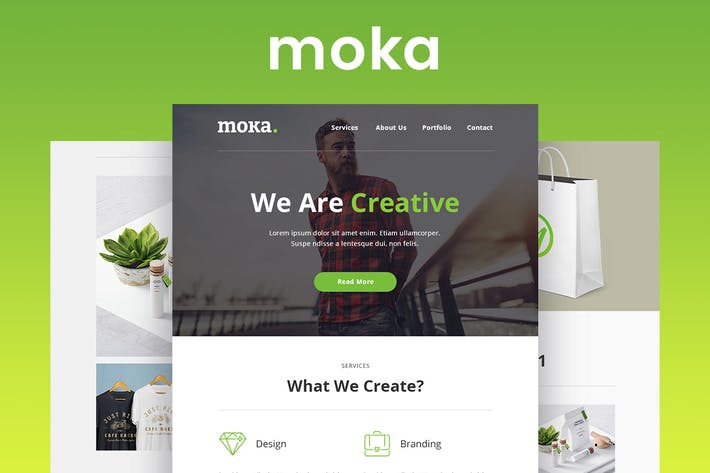 Thumbnail for Moka - Responsive Email and Newsletter Template