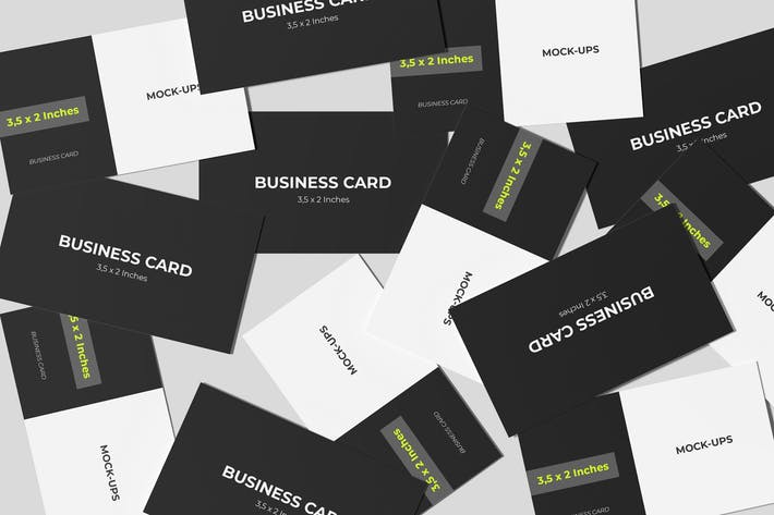 Business Card Mockup Spread Style