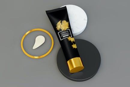 Minimalist Composition, Cosmetic Tube on Podiums