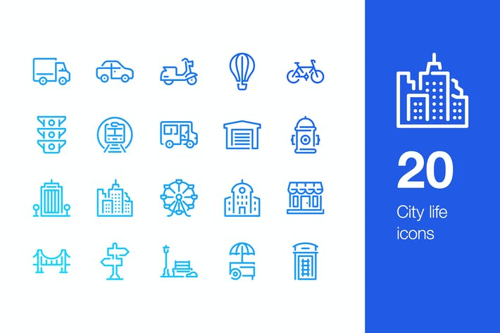 Thumbnail for 20 City life icons