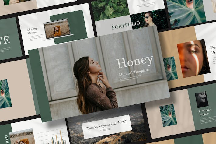 Thumbnail for Honey - Powerpoint Portfolio Fashion Creative