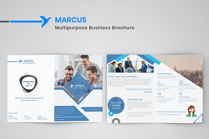 Thumbnail for Multipurpose Business Bifold Brochure