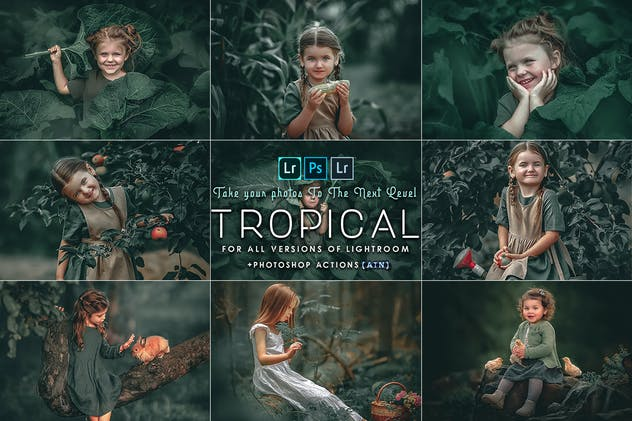 Tropical ( Photoshop Actions and  presets )