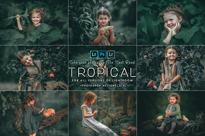 Thumbnail for Tropical ( Photoshop Actions and  presets )