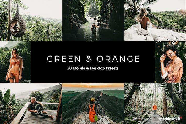 Thumbnail for 20 Green and Orange Lightroom Presets & LUTs