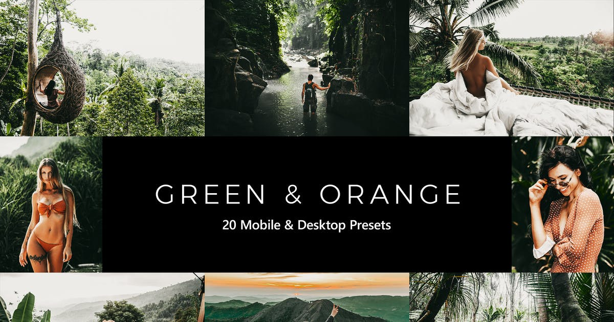 Download 20 Green and Orange Lightroom Presets & LUTs by sparklestock