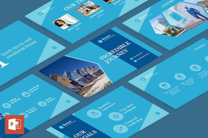 Шаблон презентации для аренды в отпуск PowerPoint