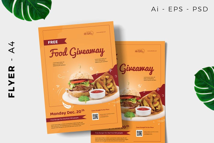 Thumbnail for Restaurant Free Giveaway Promotion Flyer Design