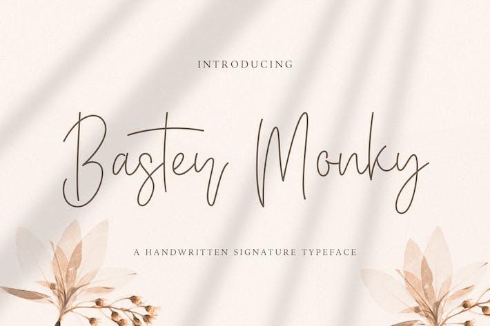 Thumbnail for Baster Monky - Fuente de escritura monolina