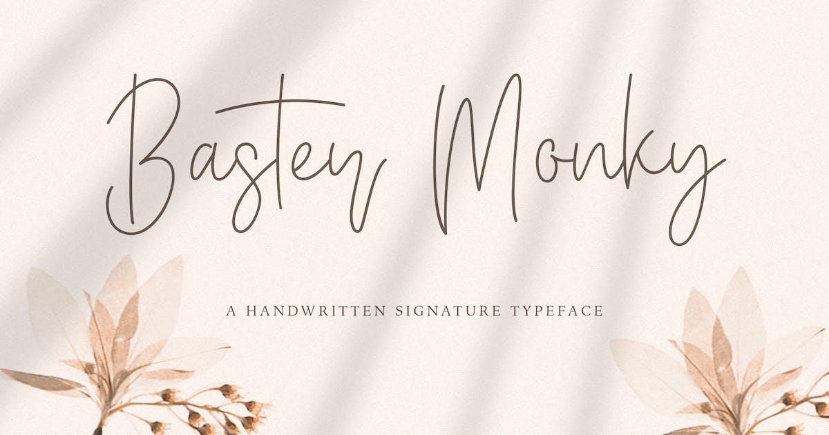 Download Baster Monky - Monoline Script Font by StringLabs