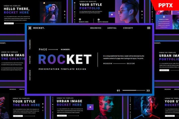 Шаблон Rocket Powerpoint