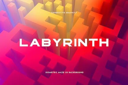 Labyrinthhintergrund