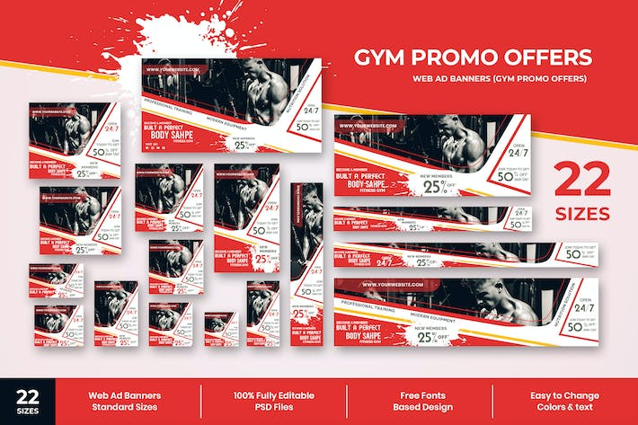 Thumbnail for Gym Offers Web Ad Banners