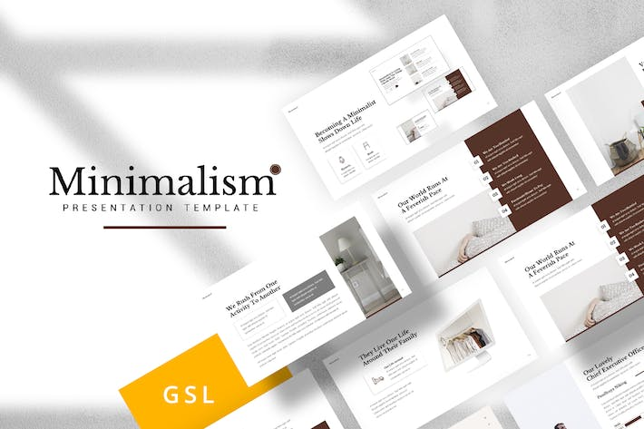 Thumbnail for Minimalism Google Slides Template