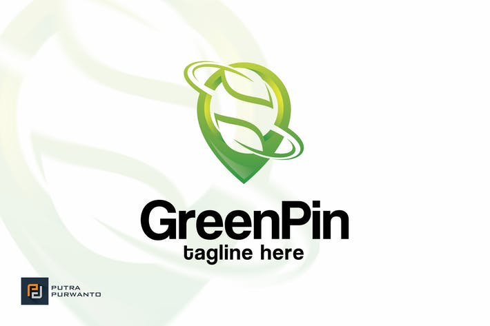 Thumbnail for Green Pin - Logo Template