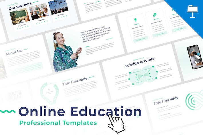 Thumbnail for Online Education Keynote Template