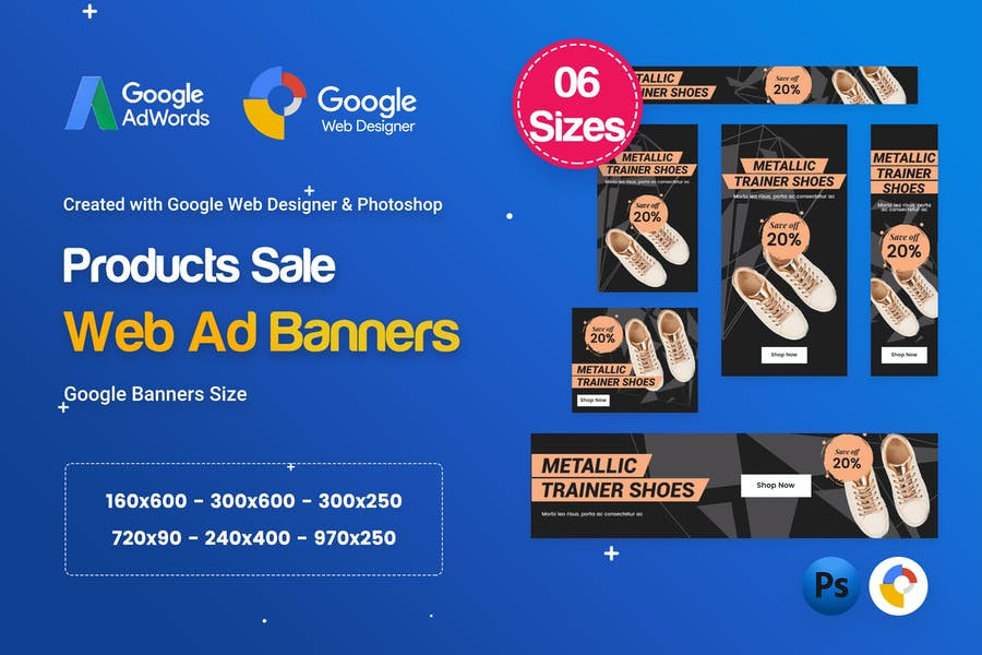 Product Sale Banners HTML5 D50 Ad - GWD & PSD