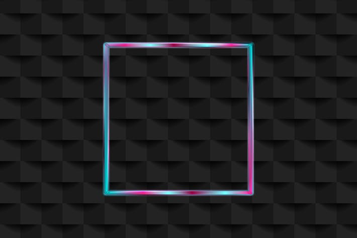 Thumbnail for Holographic neon square frame