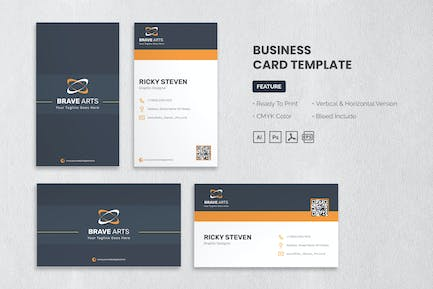 Brave Arts - Business Card Template